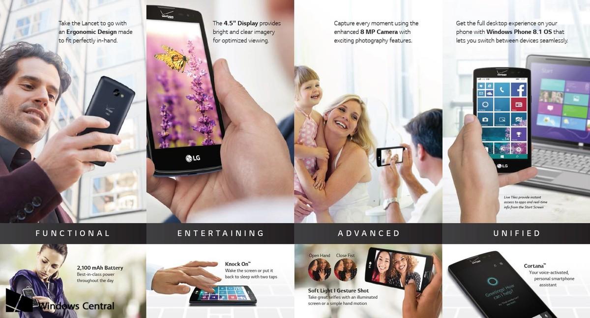 lg-lancet-ebroch Yeni  21 Mayıs'ta gelen LG Verizon Windows Phone