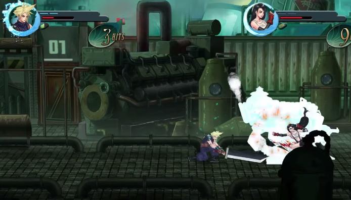 13 2D FF7 Oyunu Final Fantasy VII: Re-Imagined