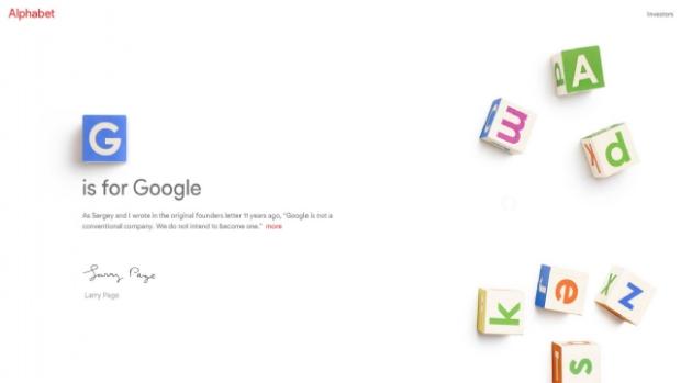 alphabet Homepage - Big Slide